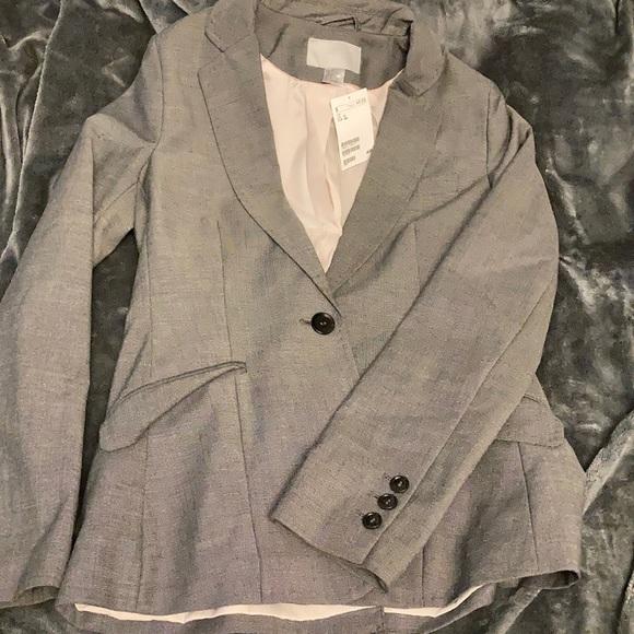 H&M gray women's blazer / suit jacket BNWT
